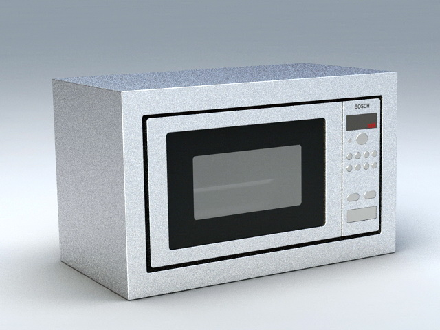 Bosch Microwave Oven 3d model rendered image