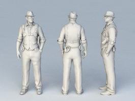 FBI G-Man 3d model