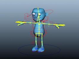 Blue Human Rig 3d model