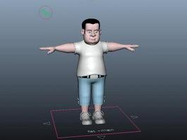 Fat Man Rig 3d model
