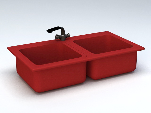 Red Double Kitchen Sink 3d model 3D Studio,3ds Max files free ... on butterfly-shaped honey onyx sink, top mount farm sink, red cast iron kitchen sinks, red double fridge, red ceramic kitchen sinks, red kitchen sink hair products, bright colored cast iron sink, red chest of drawers, red bowl sink, cast iron undermount double sink, red double doors, red double windows, red toilet, red apron sink, red bathroom, red porcelain sink, red undermount kitchen sink, red deep kitchen sink,