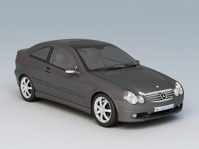 Mercedes-Benz C230 Kompressor 3d model rendered image