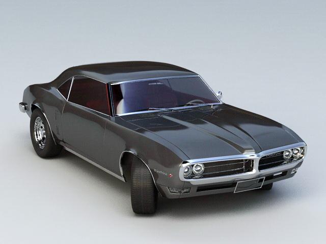 Pontiac Firebird 3d model rendered image