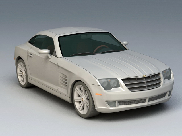 Chrysler Crossfire 3d model rendered image