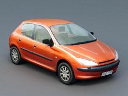 Orange Hatchback 3d model