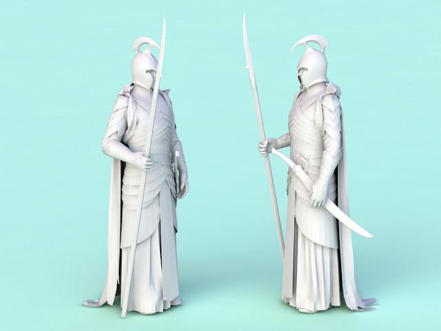 Male Elf Warrior 3d model