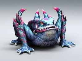 Giant Toad Monster 3d model