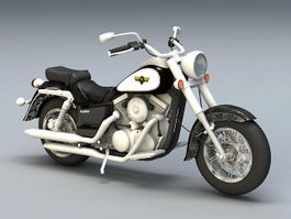 Kawasaki Cruiser Motorcycle 3d model