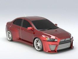 Mitsubishi Sports Car 3d model