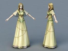Medieval Princess 3d model