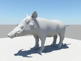 African Boar 3d model