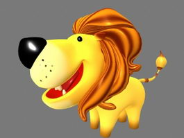 Cute Cartoon Lion 3d model