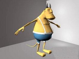 Anthropomorphic Bull 3d model