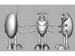 Cute Beetle Cartoon 3d model