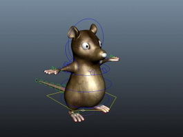Cartoon Mouse Rig 3d model