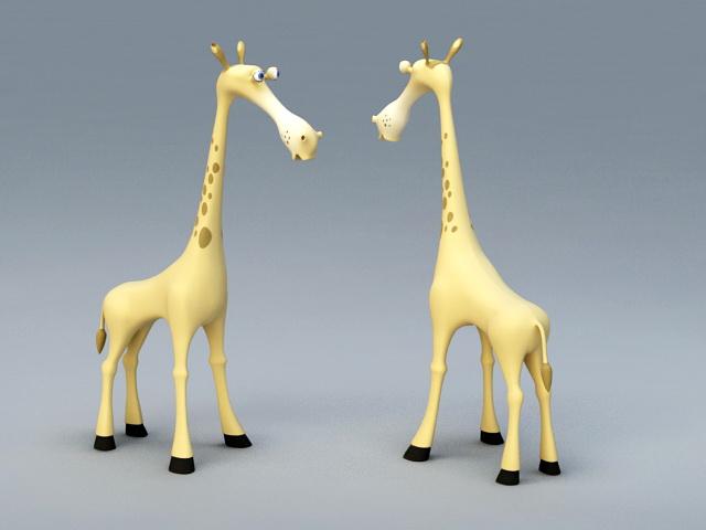 Cartoon Baby Giraffe 3d model rendered image