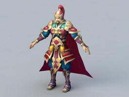 Ancient Chinese Soldier Captain 3d model