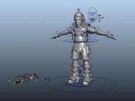Soldier Commando Rig 3d model