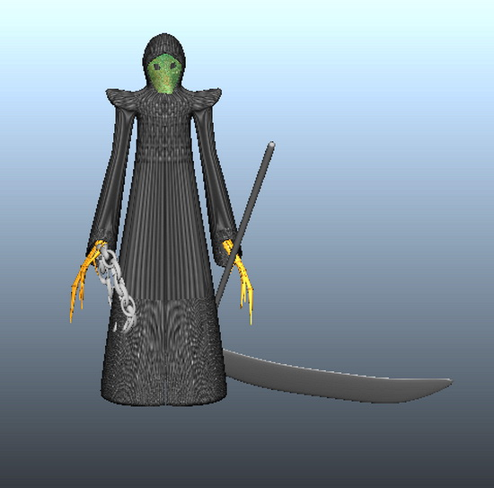 Death with Scythe 3d model