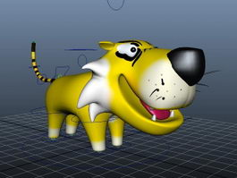 Cartoon Tiger Rig 3d model