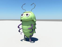Cartoon Worm 3d model
