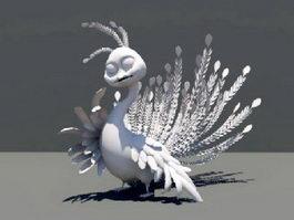 Cartoon Peafowl 3d model