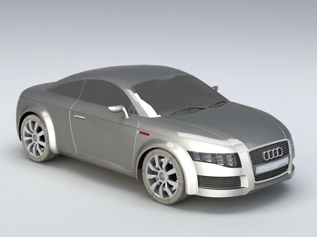 Audi A7 Sportback 3d model rendered image