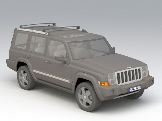 Jeep Wrangler 3d model rendered image