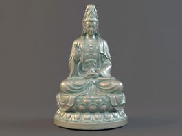 Sitting Guanyin Statue 3d model