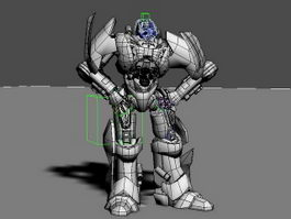 Robot Warrior Rig 3d model