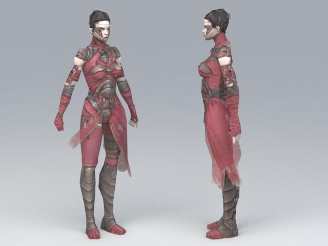 Female Medieval Thief 3d model