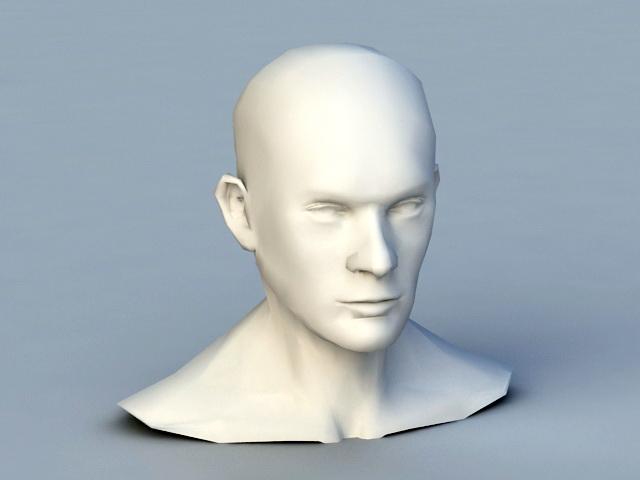 Man Bust Base Mesh 3d model