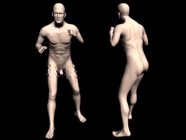 Fighting Man Body 3d model