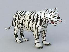 Baby White Tiger 3d model