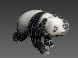 Animated Panda Rigged 3d model