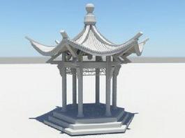 Asian Pavilion 3d model