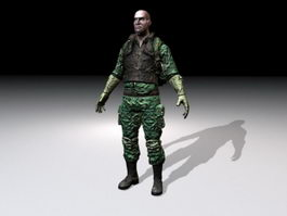 Army Commando 3d model