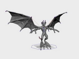 Devil with Wings Rig 3d model