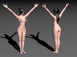 Asian Woman Body 3d model