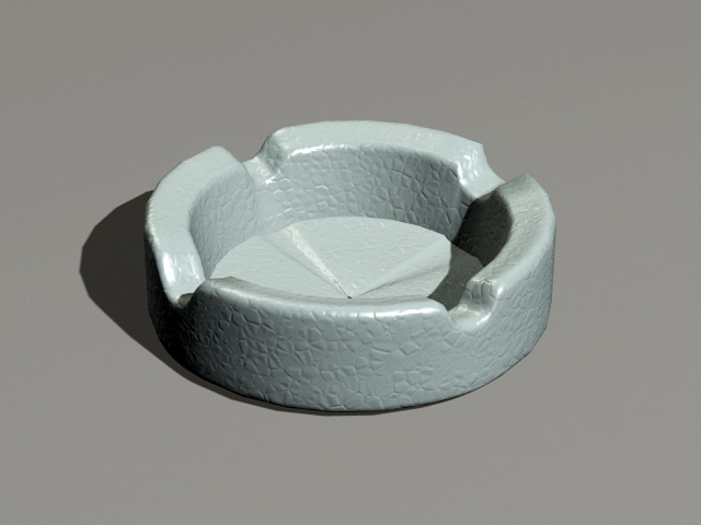 Cigarette Ashtray 3d model rendered image