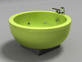 Round Whirlpool Tub 3d model