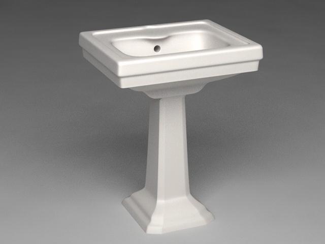 Pedestal Basin 3d model