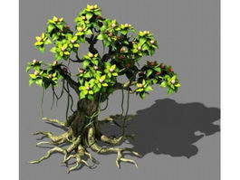 Big Cartoon Tree 3d model