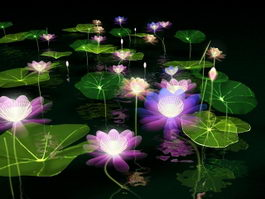 Fantasy Lotus Pond 3d model