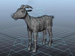Goat Rigged 3d model