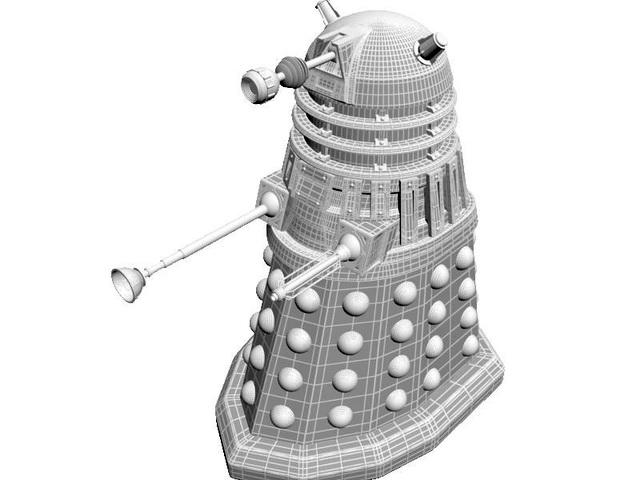 Dalek Robot 3d model rendered image