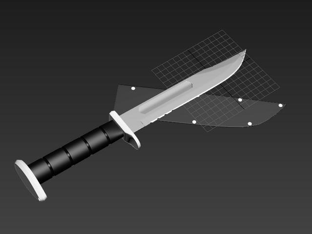 Hunting Knife 3d model rendered image