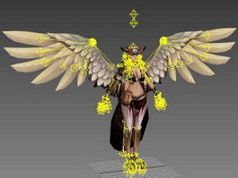 Beautiful Harpy Woman Rig 3d model