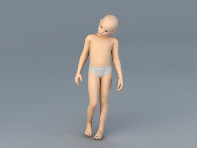 Boy Child 3d Model 3ds Max Files Free Download Modeling