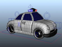 Cartoon Police Wagon Rig 3d model